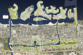 Jumeirah Garden City, original 2008 masterplan, since changed., Dubai
