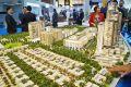 Sobha Hartland, developer's masterplan model, Dubai