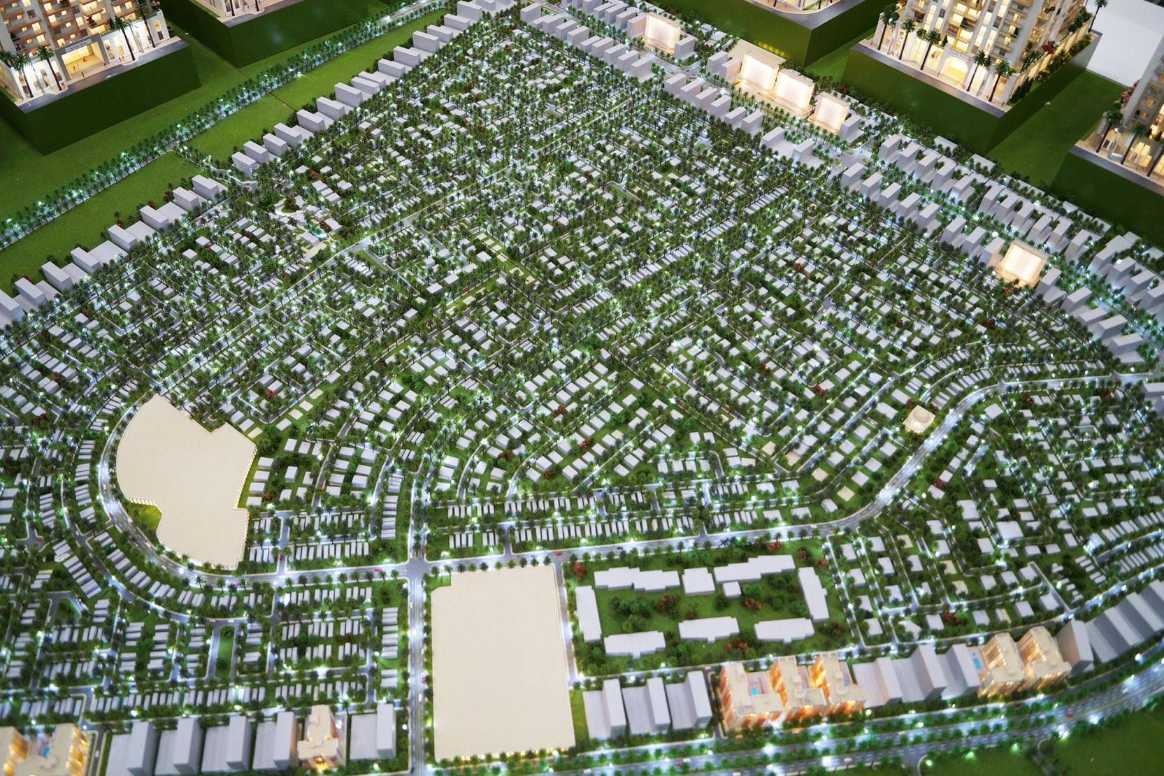 Al Furjan, Dubai, developer's 3D masterplan model