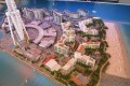 Bluewaters Island, Dubai, developer's masterplan model