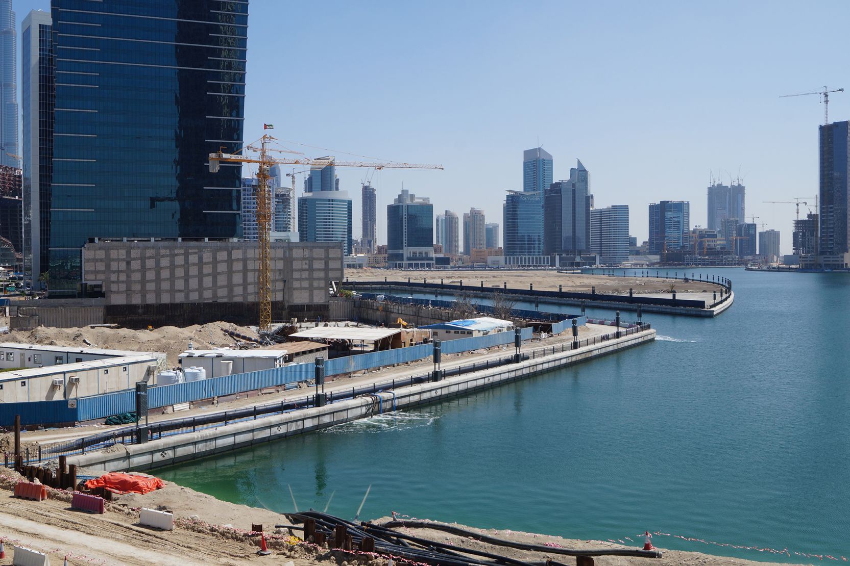 Business Bay, Dubai, canal extension, construction update April 2016