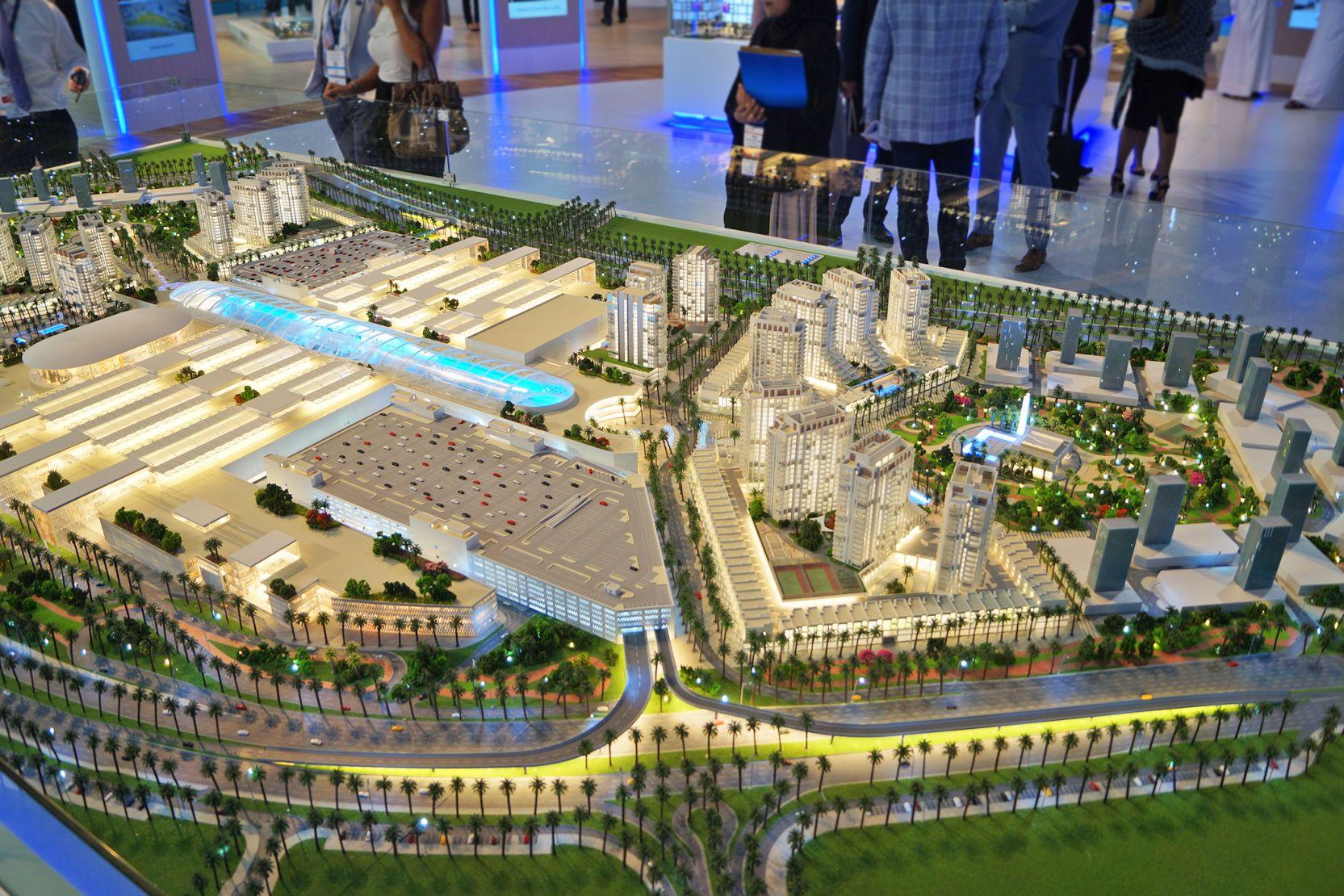 Deira Islands, Dubai, developer's masterplan model
