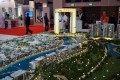 Dubai Water Canal, developer's masterplan model, Dubai