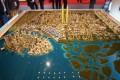 Dubai Creek Harbour, Dubai, developer's 3D masterplan model