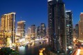 Dubai Marina, night view, Dubai