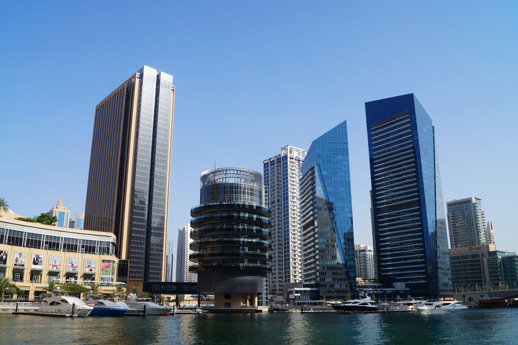 Dubai Marina Mall, The Address Hotel and Pier 7