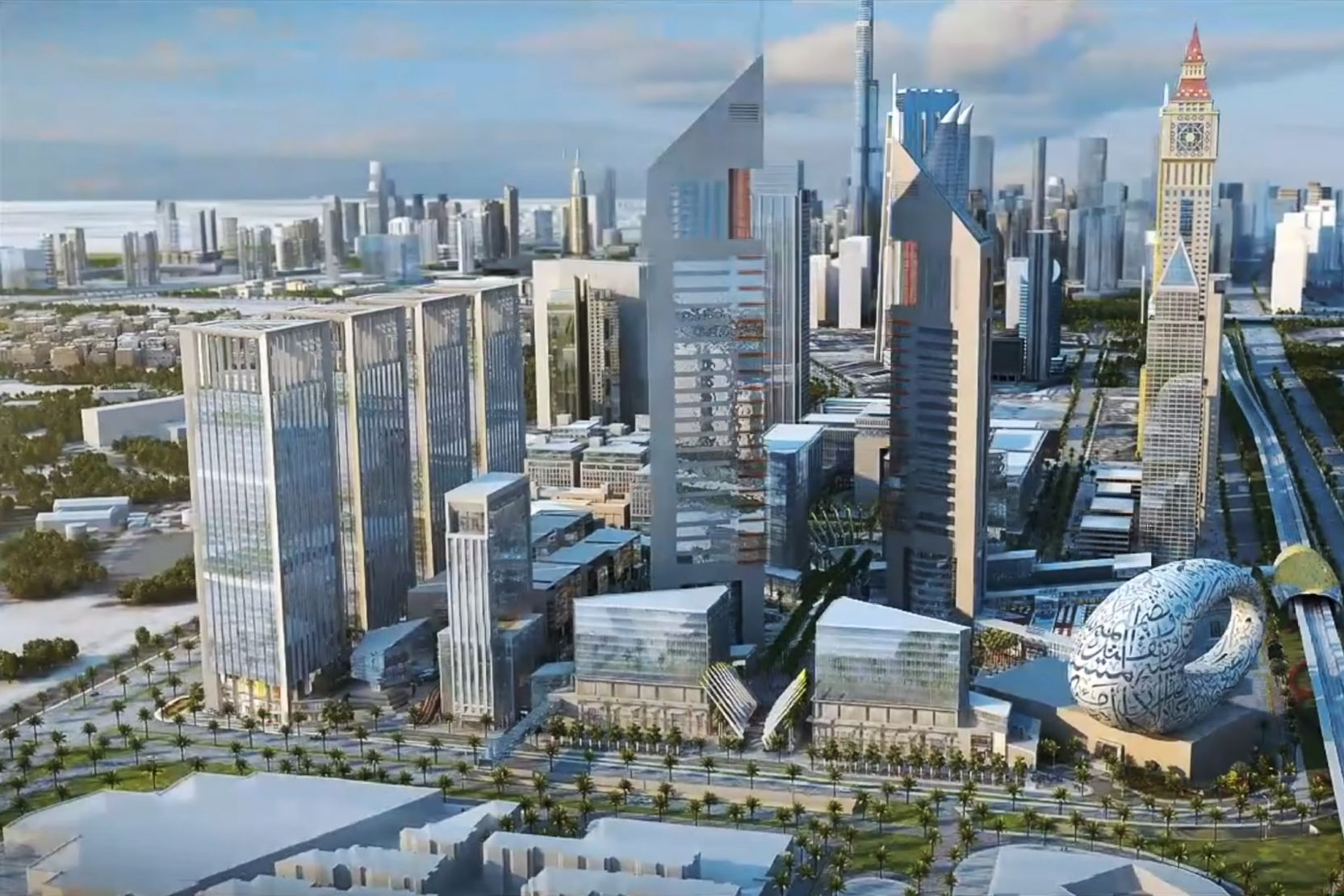 Emirates Towers Business Park, Dubai, artist's impression