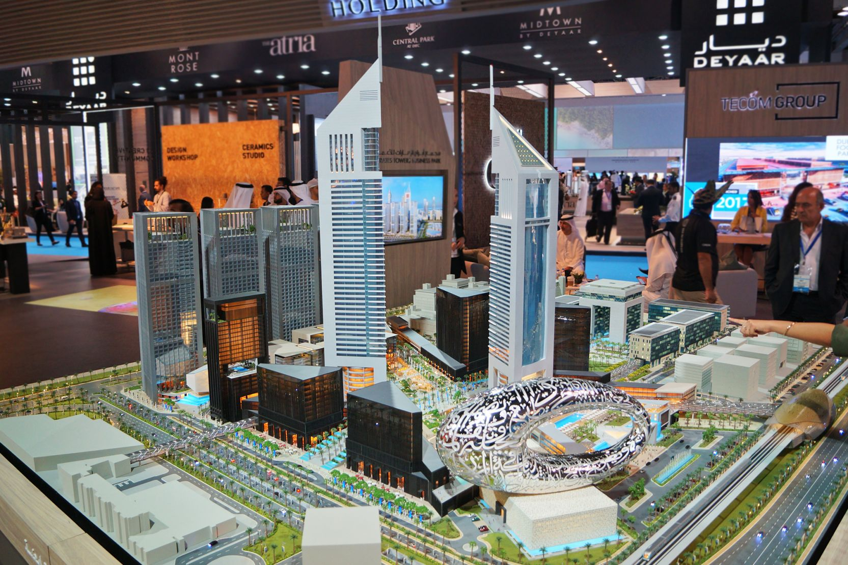 Emirates Towers Business Park, Dubai, developer's masterplan model