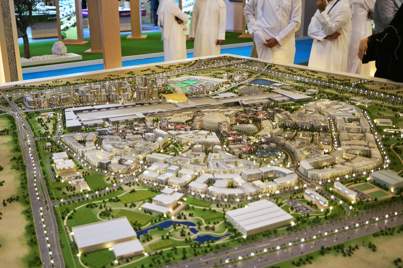 Expo 2020 Distrct, Dubai, post Expo masterplan, developer's masterplan model