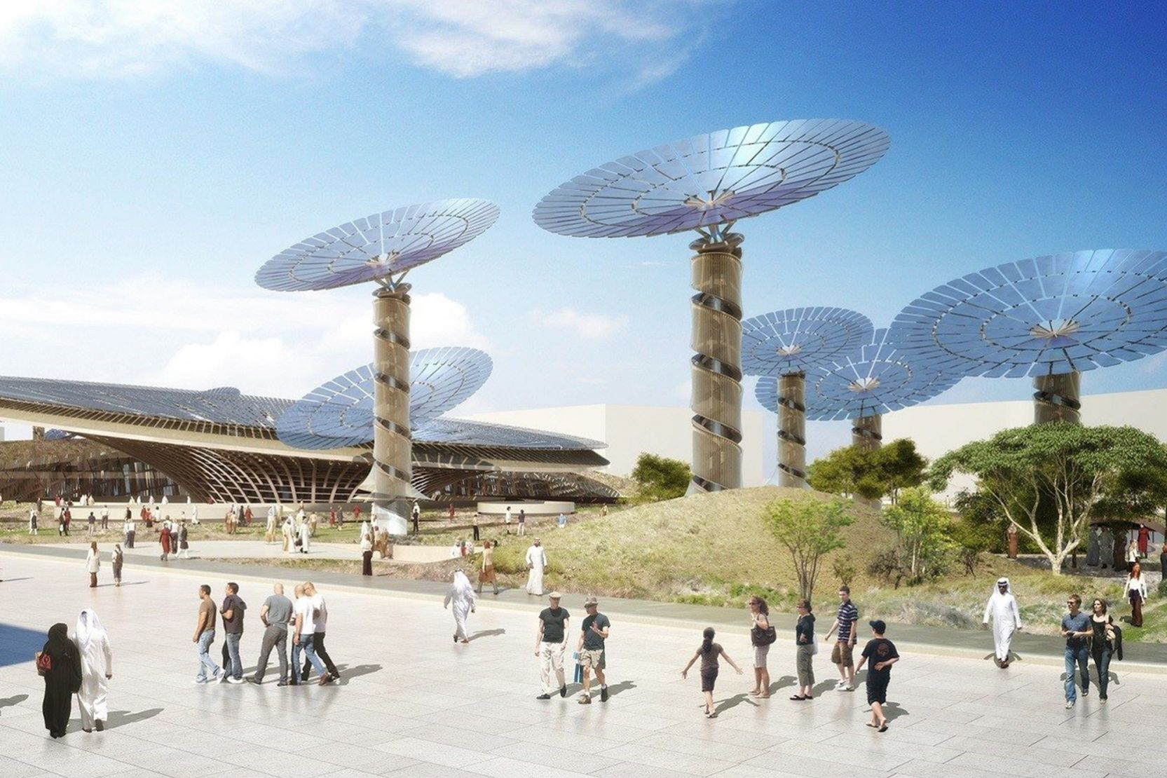 Expo 2020 Distrct, Dubai, artist's impression