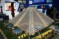 Falcon City Of Wonders, developer's masterplan model, Dubai