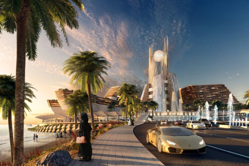 Jumeirah Beach MGM Resort, Dubai, artist's impression
