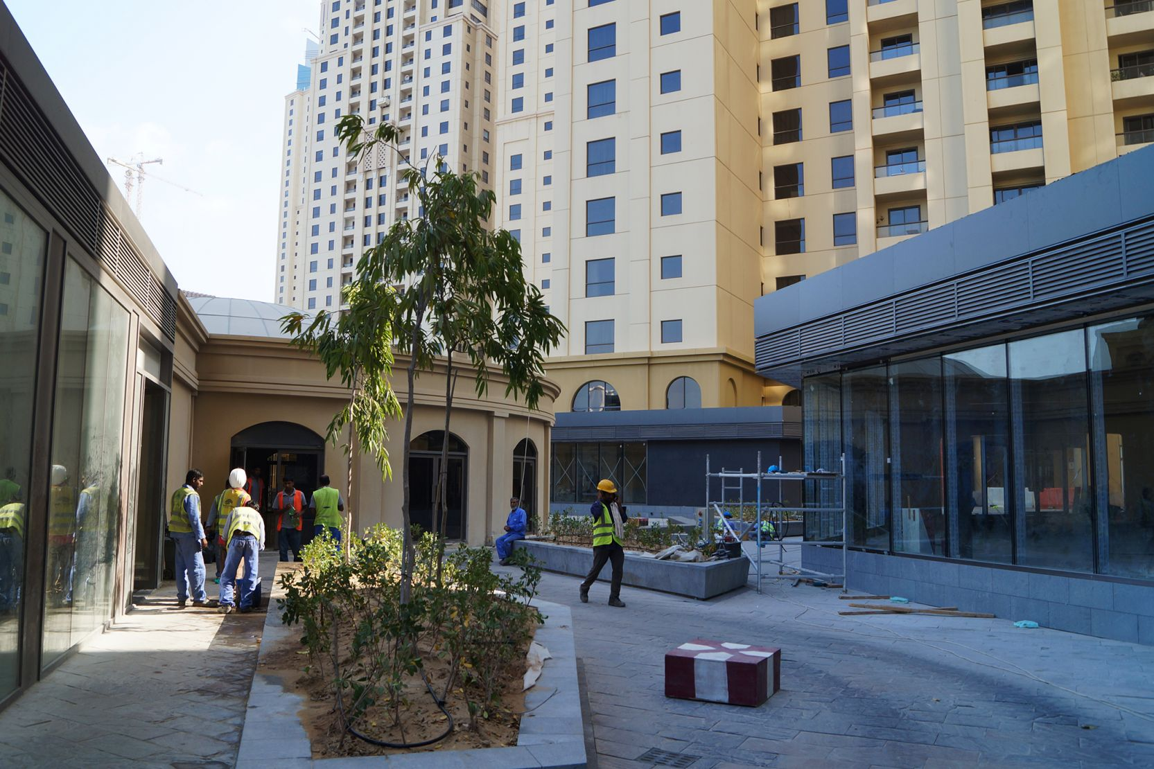 Jumeirah Beach Residence, Dubai, construction update October 2015