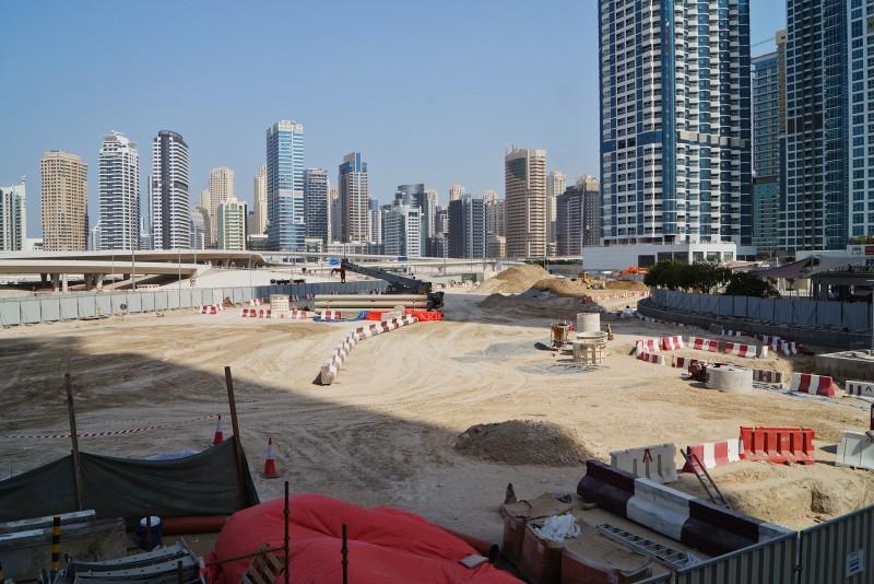Jumeirah Lakes Towers, Dubai, construction update September 2017