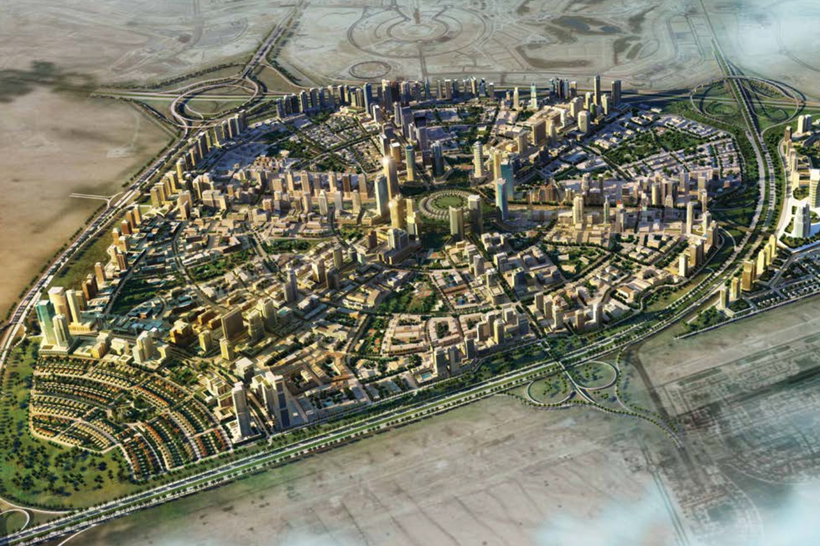 Jumeirah Village Circle, Dubai, developer's masterplan