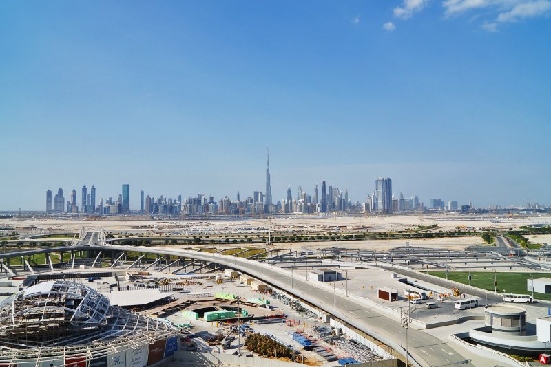 Meydan, Dubai, view from the roof of the Meydan Grandstand
