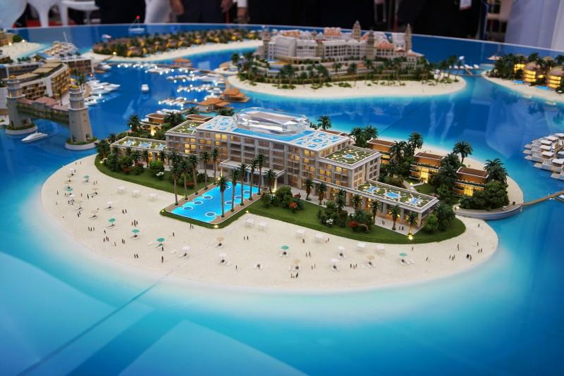 Monaco Island, Dubai, developers 3D model