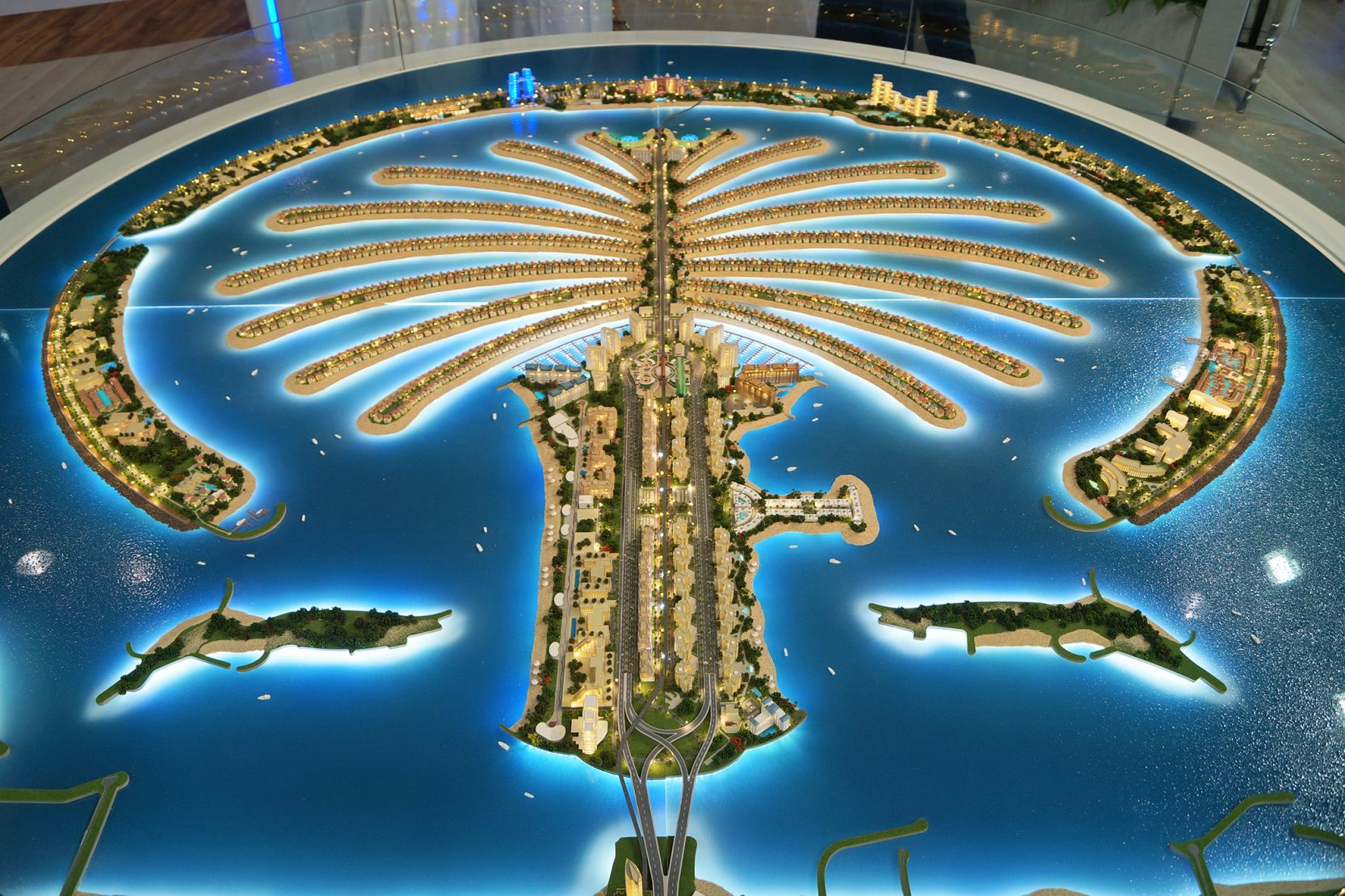 Palm Jumeirah, Dubai, developer's masterplan model