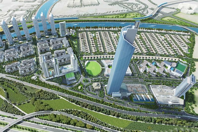 Sobha Hartland, Dubai, developer's masterplan