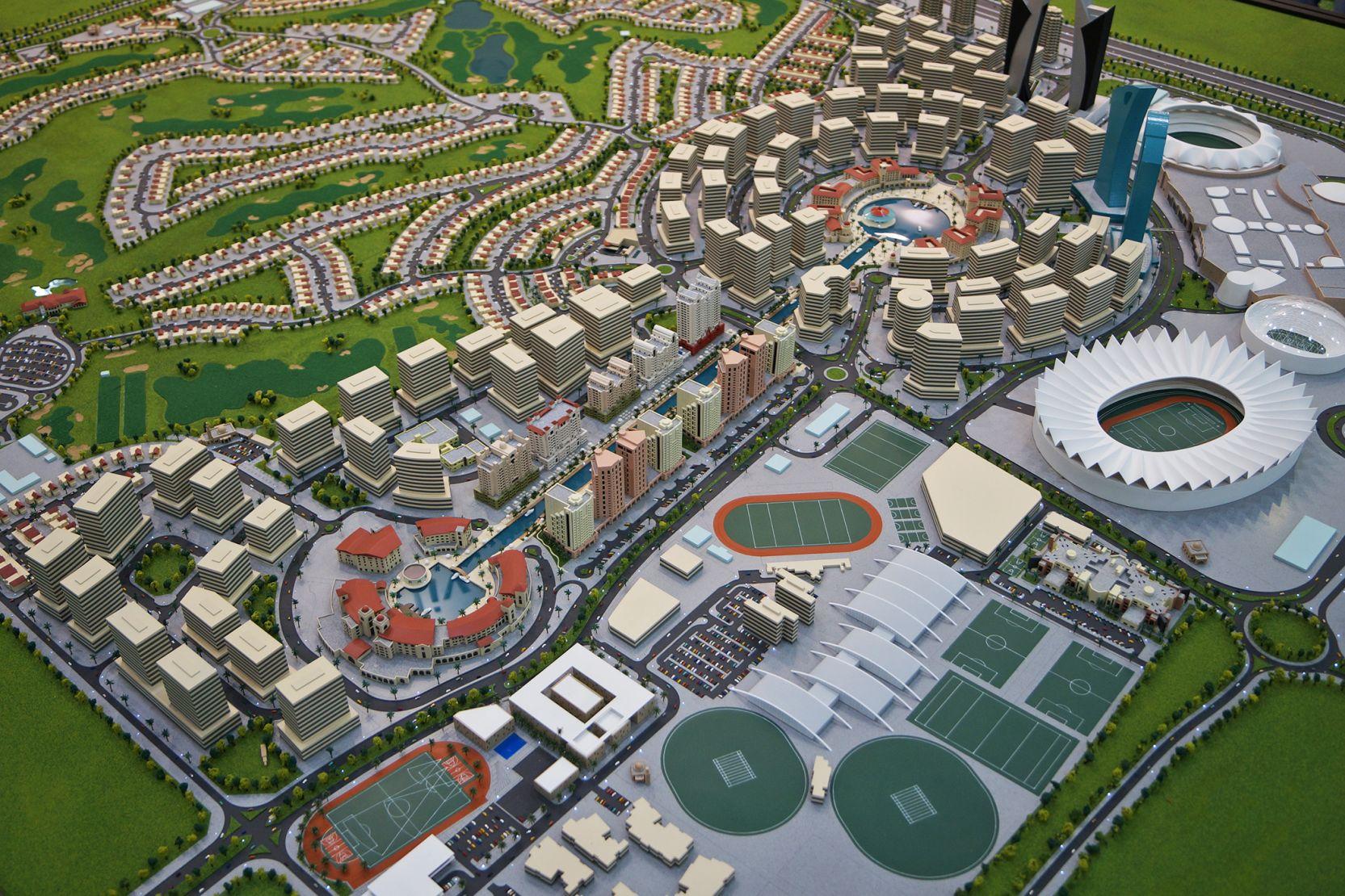Sports City, Dubai, developer's masterplan 3D model