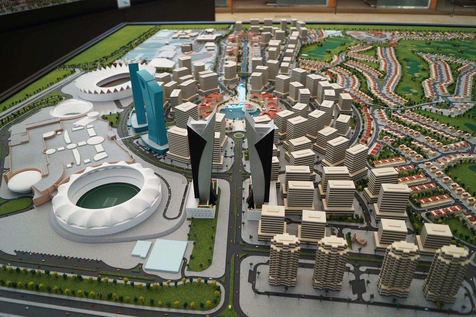 Sports City, Dubai, developer's masterplan model