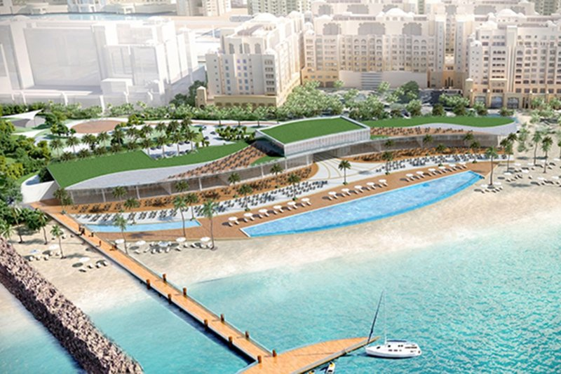 St. Regis Beach Club, Dubai, artist's impression