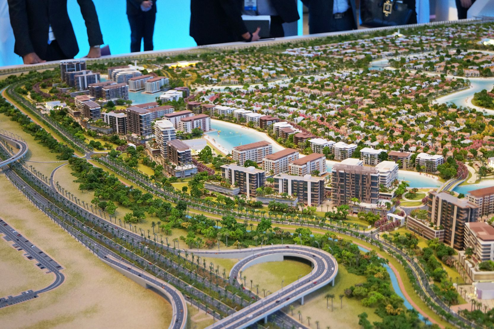The Residences at District One, Dubai, developer's masterplan model