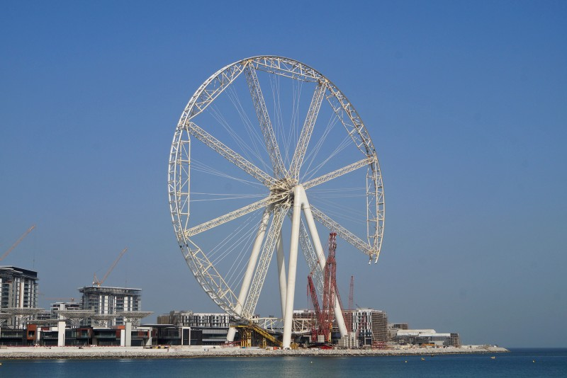 Ain Dubai Ferris Wheel, Dubai, construction update September 2017