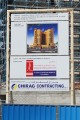 Abdul Rahman Al Banafa Building, Dubai, construction site signboard