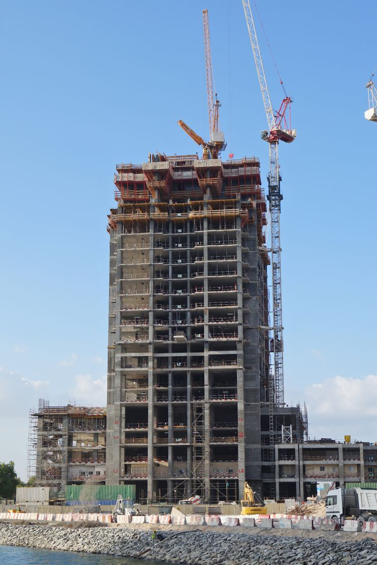 Amna Tower, Dubai, construction update November 2015