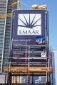 Boulevard Crescent, Dubai, construction site signboard