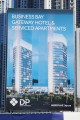 Business Bay Gateway Hotel & Serviced Apartments, Dubai, construction site signboard