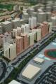 Canal Residence East, developer's masterplan model, Dubai