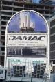Damac Maison Upper Crest, Dubai, construction site signboard
