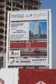 Daytona XI, construction site signboard, Dubai