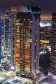 Global lake view, night view, Dubai