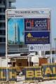 TFG Marina Hotel, construction signboard, Dubai