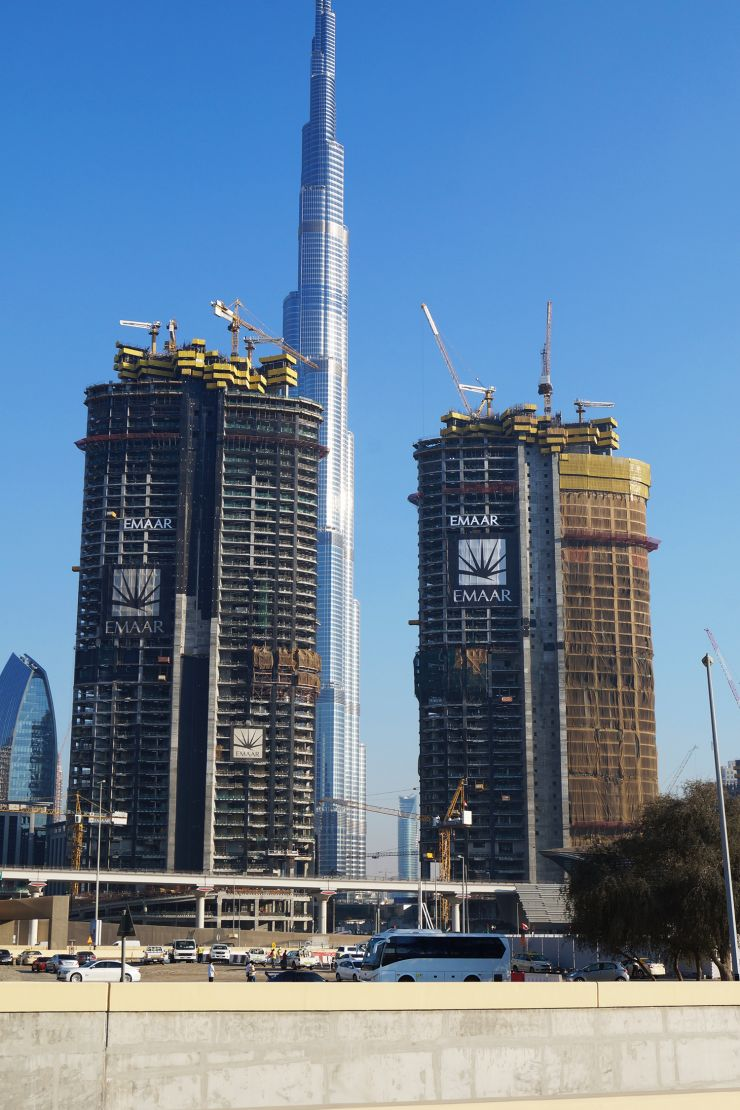 The Address Residence Sky View, Dubai, construction update February 2016