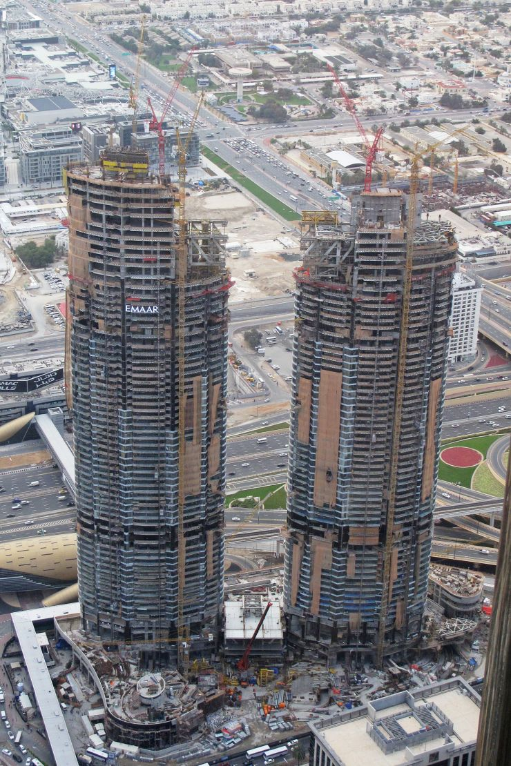 The Address Residence Sky View, Dubai, construction update March 2017